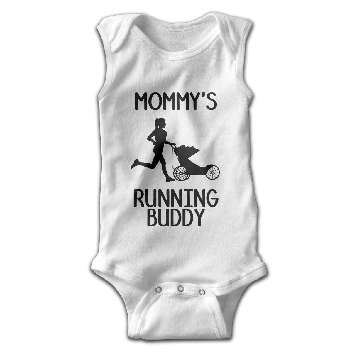 Mommy Running Buddy Newborn Baby Clothes Layette Sleeveless Summer Novelty Funny Gift for Baby