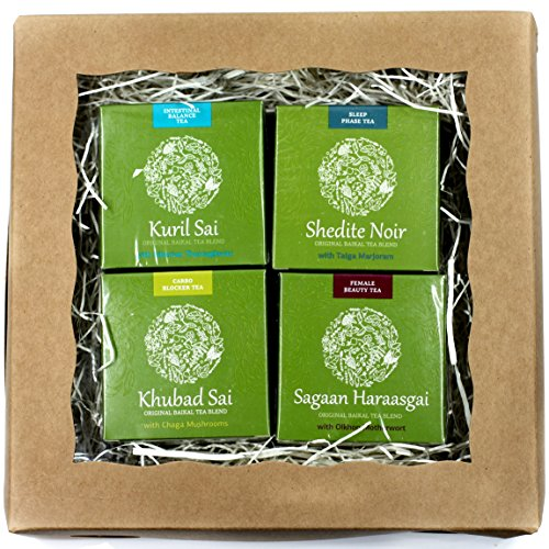 Siberian Health Organic Natural Herbal Tea Assortment Variety Gift Set for Stress Relief, Sleep, Digestion, Metabolism, Female beauty, Healthy lifestyle, 4 packs, 120 tea bags (Women's Health)