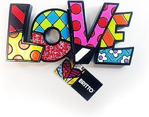 1 Romero Britto Mini Love Word Authentic Figurine Gift Table Sculpture Wall Art