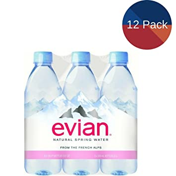 af5ff52523 Image Unavailable. Image not available for. Color: Evian Natural Spring  Water, 16.9 Fl Oz ...