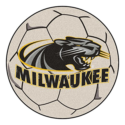 NCAA University of Wisconsin-Milwaukee Panthers Soccer Ball Mat Round Area Rug