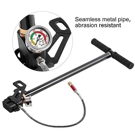 GOTOTOP - Bomba de Mano de Alta presión 4500psi 3 etapas Cuerpo de Acero de tungsteno para Pistola de Aire PCP: Amazon.es: Deportes y aire libre