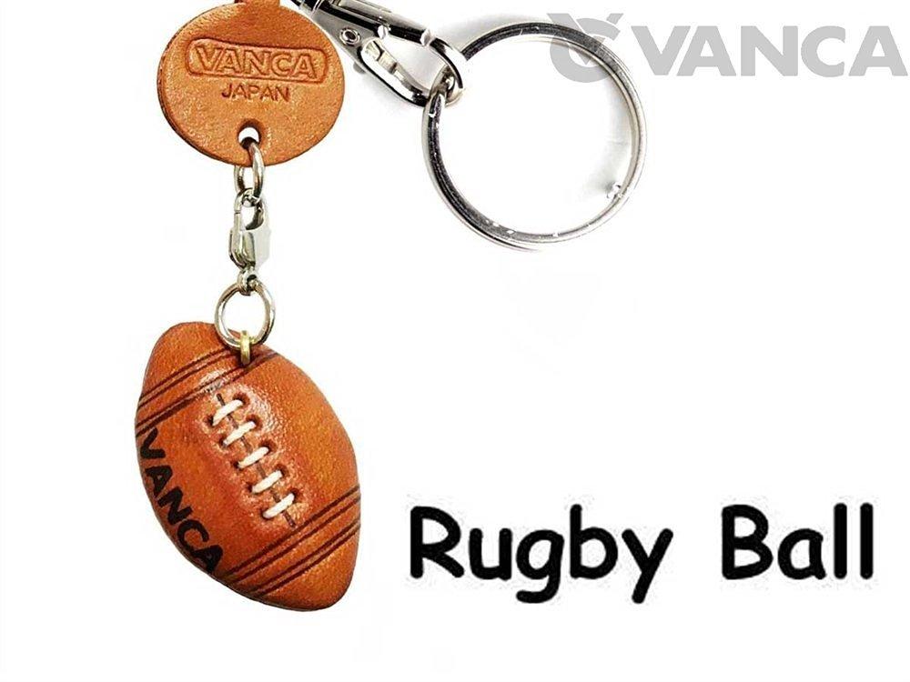Pelota de rugby art/ículos de cuero Peque/ño llavero VANCA craft-collectible llavero hecho en Jap/ón