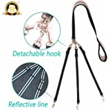 CatYou Three Way Dog Coupler Leash, Reflective, Adjustable Triple Dog Leash for One/Two/Three Dog Cats Pet, Tangle Free