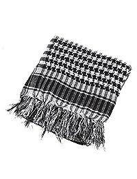Forfar de los hombres cuello Cover cabeza Keffiyeh envolver bufanda árabe máscara de Palestina de Shemagh chal bufandas de poliéster