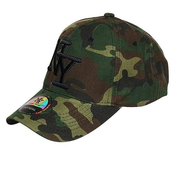 16baf24ae69a1 Chapeau-tendance - Casquette NY armée tachetée - - Mixte: Amazon.fr ...