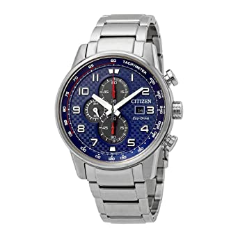 741f694f407 Amazon.com  Citizen Primo Blue Dial Stainless Steel Men s Watch ...