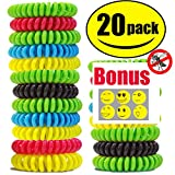 #4: STURME 20 Pack Natural Mosquito Repellent Bracelets, Waterproof, Bug Insect Protection up to 300 Hours, No Deet, Pest Control for Kids Adults ¡