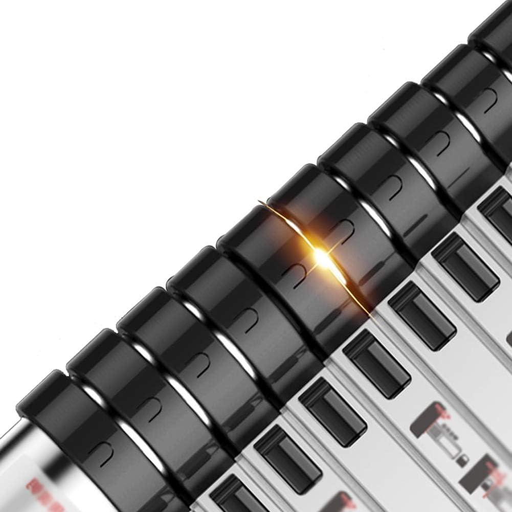 LNX-Teleskopleitern Multifunktions Gerade Leiter Aluminium Tragf/ähigkeit: 150KG Mit Haken Ausziehbar rutschfest Tragbar