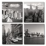 Canvas Print for Home Decoration 4 Panels New York City Landmark Painting Wall Art Picture Print on Canvas - High Definition Modern Giclee Artwork