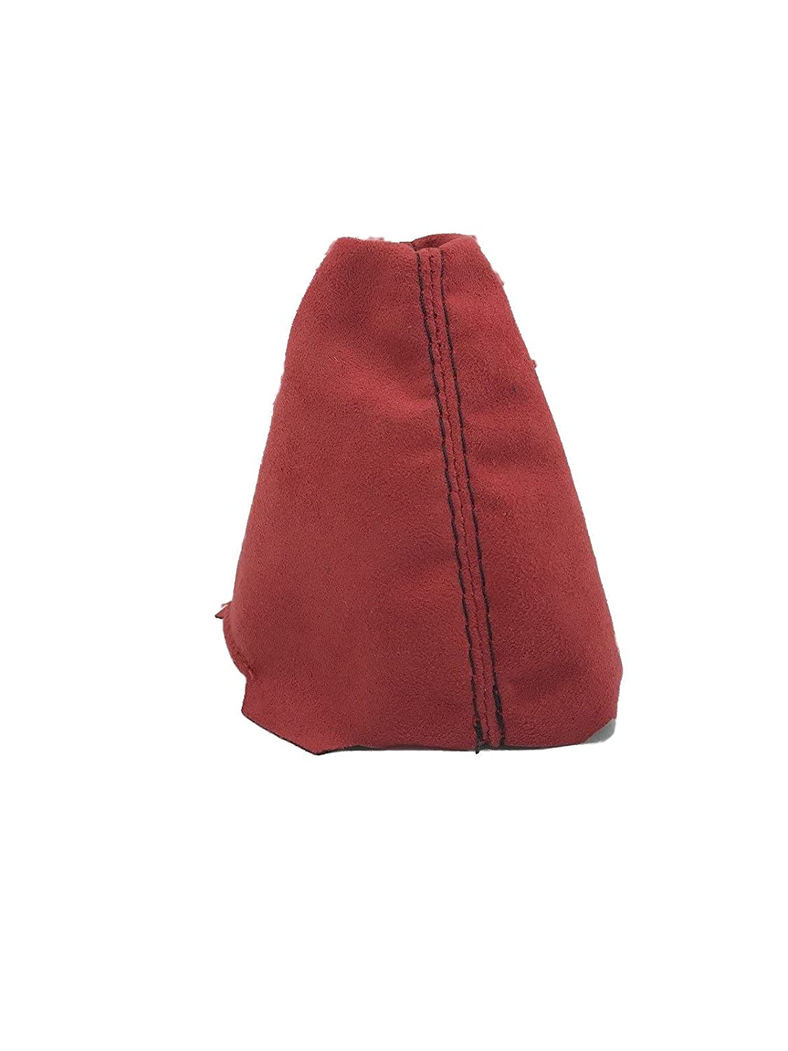 For 06-11 Honda Civic Si Shift Boot Red Suede Black Stitch
