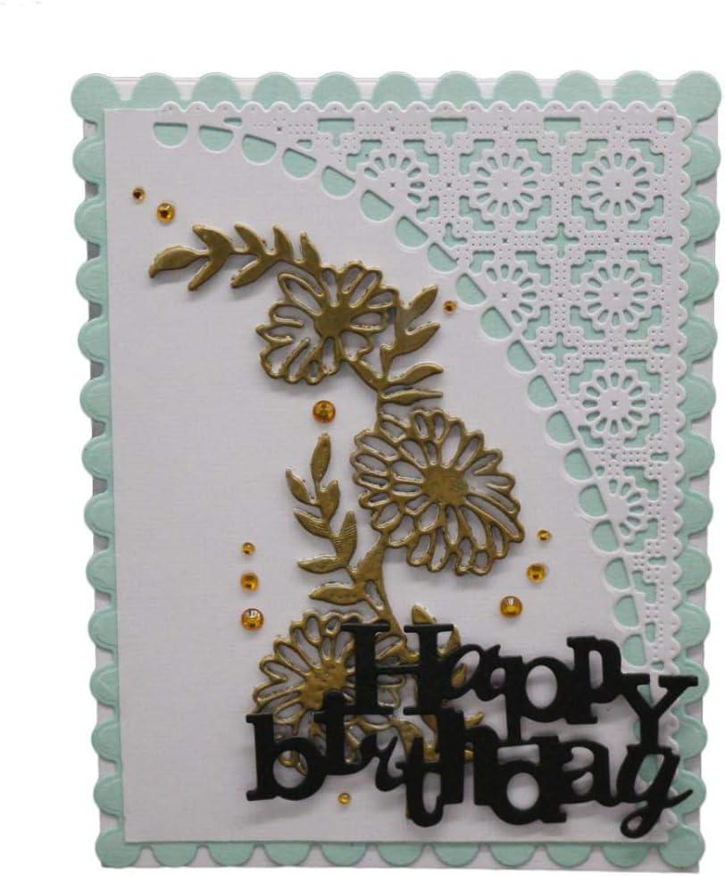 T-HOT Flower Bird Metal Cutting Dies Stencil Scrapbooking DIY Album Stamp Paper Card