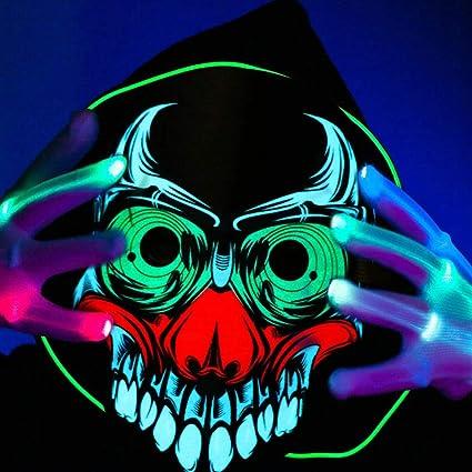 Máscaras Halloween Payaso, Zolimx Máscara de Moda LED ...