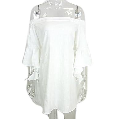 DaveDu apparel sexy fora do ombro vestidos de algodão preto mulheres sexy oco out flare manga