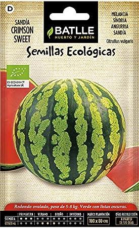 Semillas Ecológicas Hortícolas - Sandía Crimson Sweet - ECO - Batlle