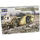 Master Box Models WWI MK I Female British Tank (Machinegun Version), Somme Battle Period 1916 (1/72 Scale)