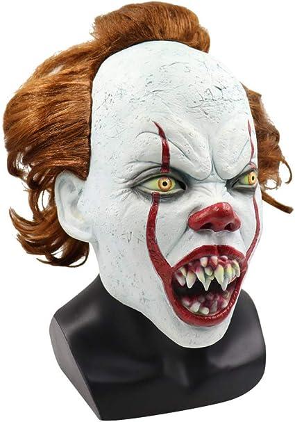 OD-B Máscara De Halloween Payaso De Terror para Adultos Joker ...