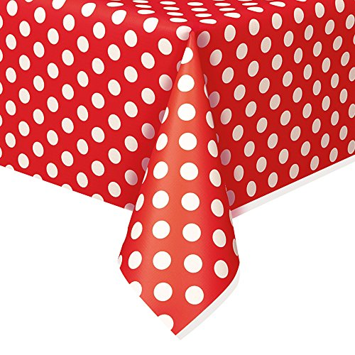 Mickey Mouse Tablecloth Ideas (Polka Dot Plastic Tablecloth, 108