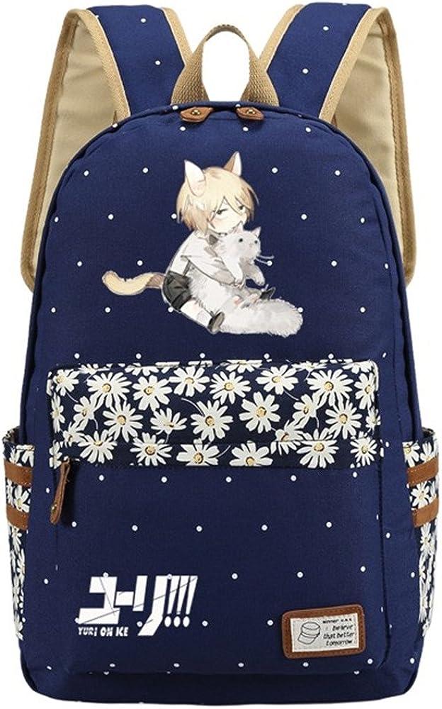 Siawasey Anime Yuri On Ice Bookbag Backpack School Bag