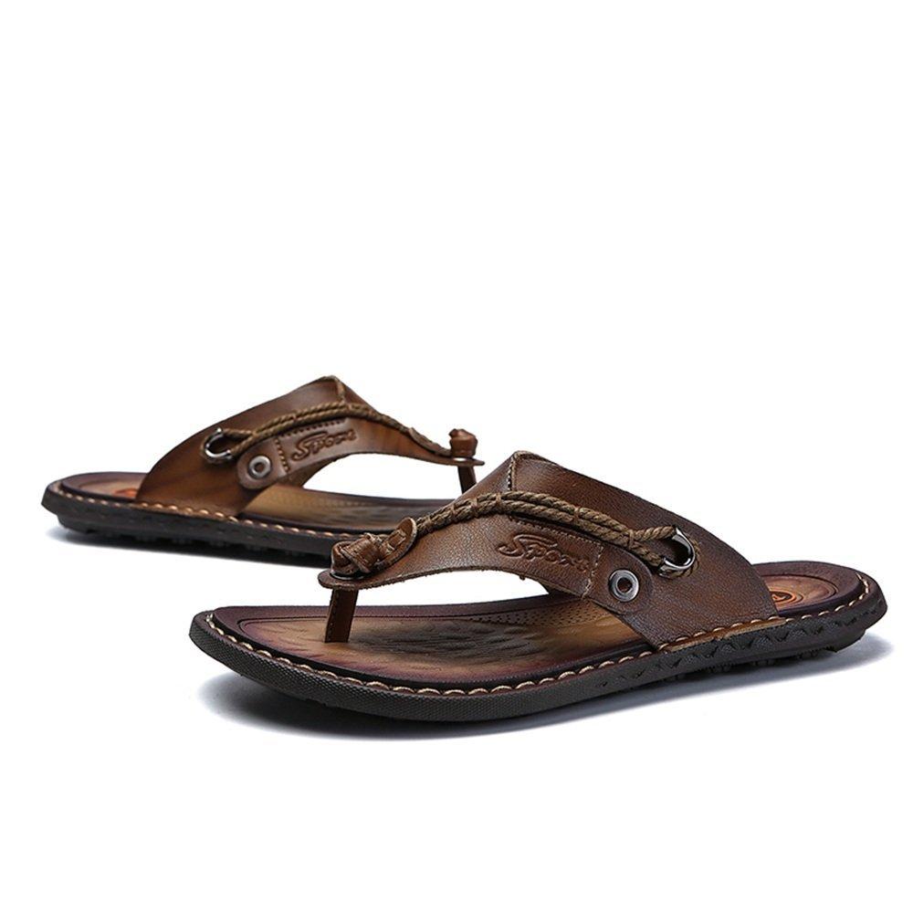 Dig dog bone Men's Comfortable Slipper Faux Anti-Slip Leather Thong Flip Flop Anti-Slip Faux Summer Outdoor Beach Sandal B07G3785R8 Fashion Sneakers b69464