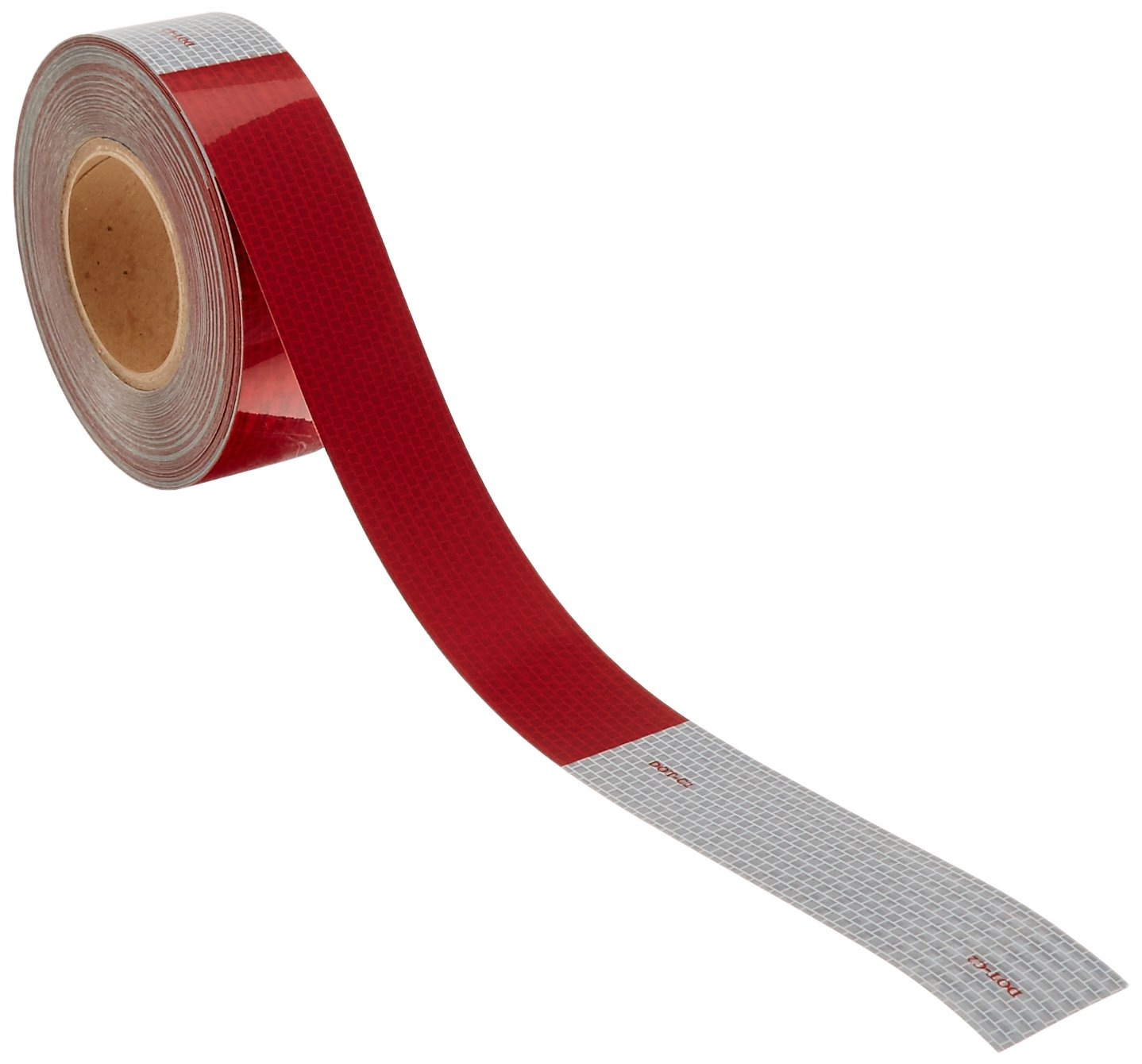 Grote 40650 Alternating 7' silver / 11' Red 2' x 150' Roll Conspicuity Tape