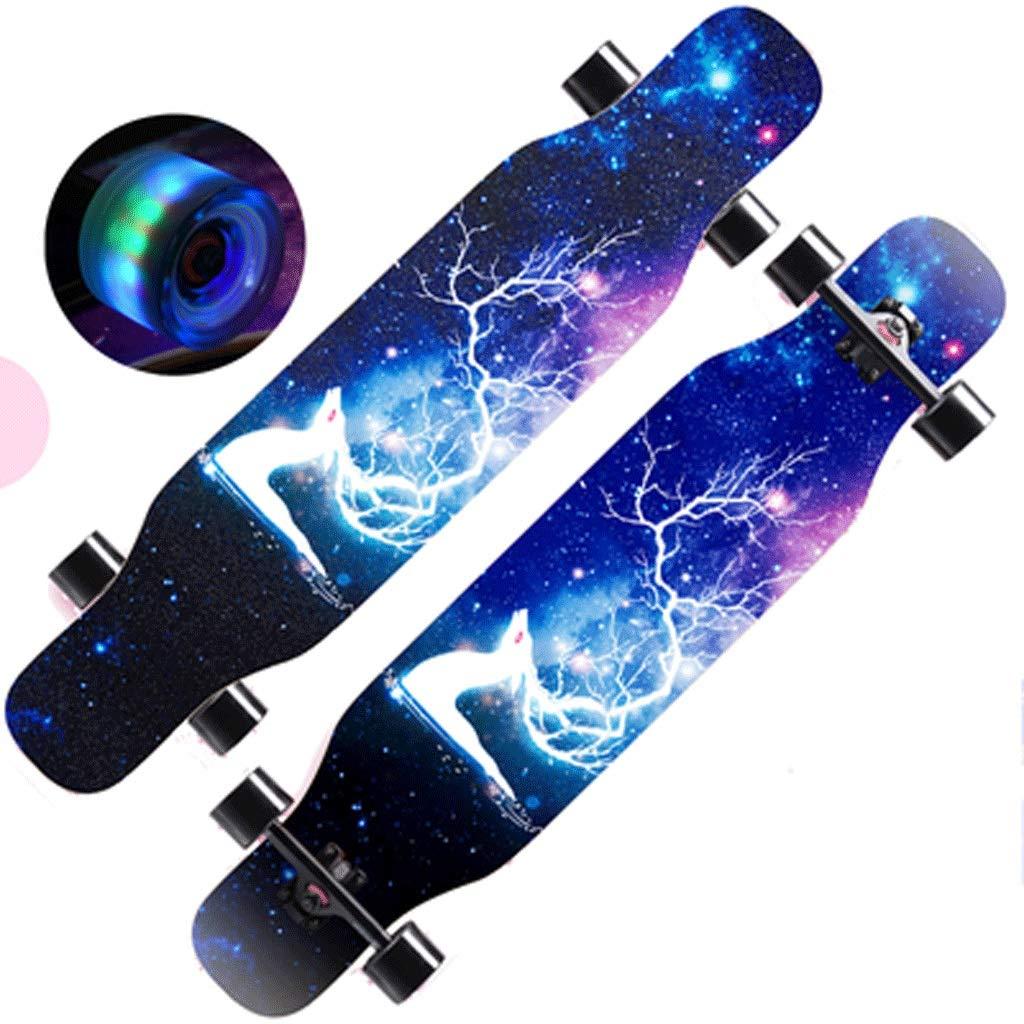 Anfänger-Erwachsen-Straßen-Fertigkeiten-Tanz-Brett-langes Brett-Skateboard Brett-Skateboard Brett-Skateboard doppelseitiges Muster-Jungen und Mädchen-Straßen-Skateboard B07KT1H4FN Skateboards Eleganter Stil 52765c