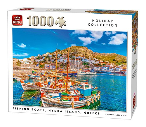 King Puzzle Landscape 1000pc - Fishing Boats