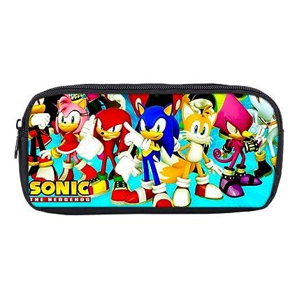 XH Bolsa De Almacenamiento De Papelería Blue Hedgehog Sonic ...