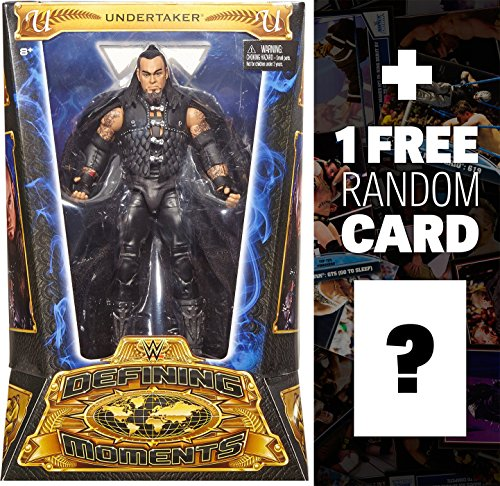 Undertaker: WWE Defining Moments Action Figure Series + 1 FREE Official WWE Trading Card Bundle