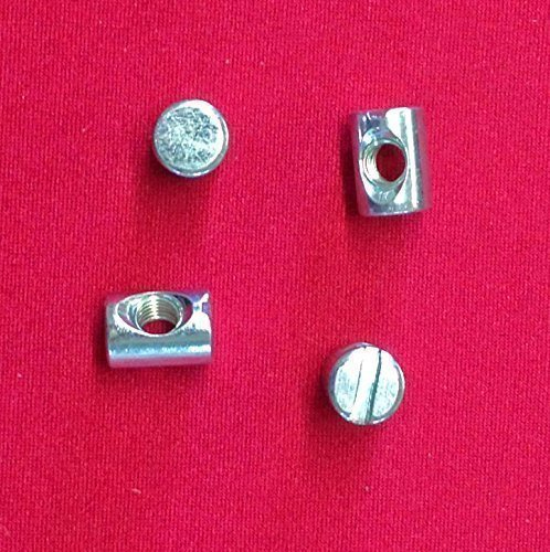 4 x M6 Furniture Cot & Bed Hex Slotted Barrel Nuts
