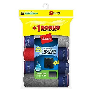 Amazon.com: Hanes Boys Boxer Brief Bonus Pack P7+1: Clothing