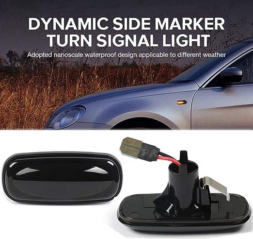 color negro Intermitente lateral LED compatible con A2 2001-2005 A3 8L 1996-2003 A4 B5 1995-2000 A6 4B C5 1997-2005 A8 4D 1996-2002 TT 8N 1998-2006