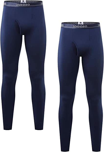 LAPASA Pantalón Térmico para Hombre (Malla térmica) Pack de 2/Pack ...