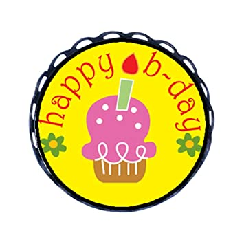 Enjoyable Chicforest Ancient Style Happy Birthday Cake Cartoon Round Pin Funny Birthday Cards Online Alyptdamsfinfo