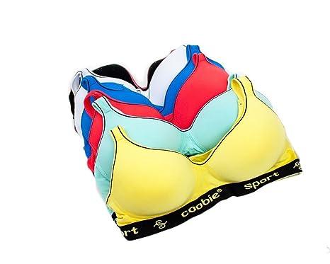 f31c9c8de8873 Image Unavailable. Image not available for. Color  Coobie Intimates Women s  6 Pack Sports Bras ...