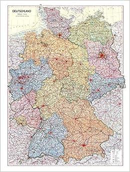 Historische Karte Deutschland 1952 Plano 9783867779258 Amazon