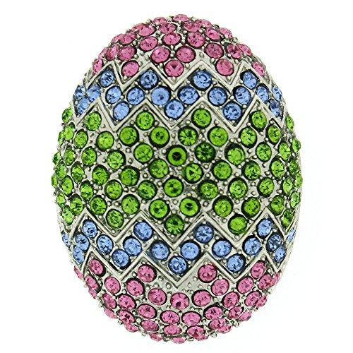 Multi Swarovski Crystal Easter Egg Brooch (Crystal Easter Pin)