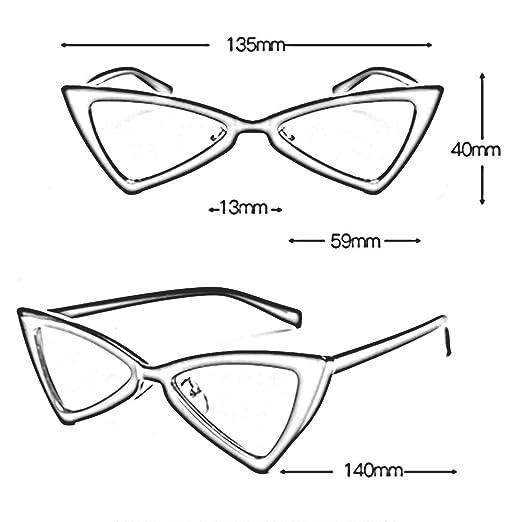 LVZAIXI Nuove ragazze occhiali da sole a specchio Occhiali da sole  triangolo UV400 ( Colore : Marrone ): Amazon.it: Casa e cucina