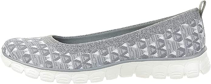 Skechers EZ Flex 3.0 Wild n Free Sneakers Damen Sommerschuhe Slip on Slipper Grau