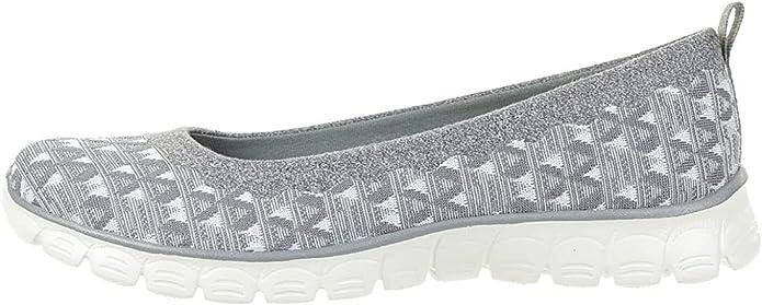 Skechers EZ Flex 3.0 Wild n Free Sneakers Damen Sommerschuhe Slip on Slipper Grau