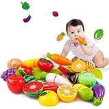 Jeu d'imitation,Covermason 20pc coupe fruits légumes jeu enfants Kid jouet éducatif