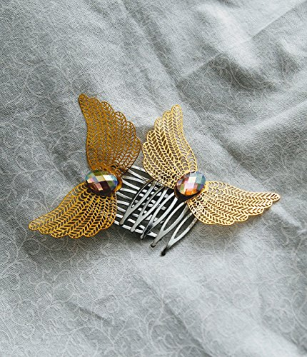 Jeweled Wing Hair Combs (set)