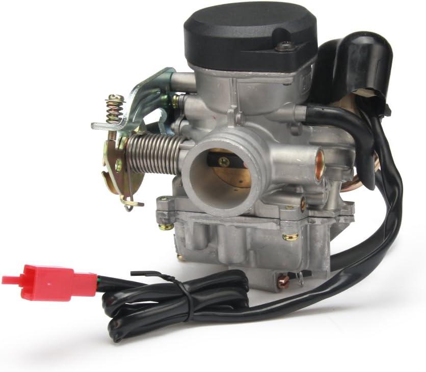 JFG RACING CVK26 - Carburador de reemplazo de 26mm kei hin para ATV, scooter o motocicleta con GY6 de 150 cc, 200 cc y 250 cc