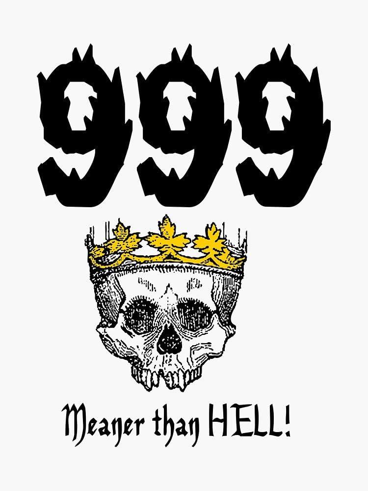 Magnetic Vinyl Car Bumper Sticker 5 MAGNET 999.MEANER than HELL