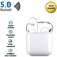 Jingircle Écouteurs sans Fil 5.0 Headset Bluetooth, Ecouteur Bluetooth stéréo étanche Hi-FI Voice IPX5, boîte de Chargement Portable 650 mAh 22H pour Android/Airpods/Galaxy et iOS