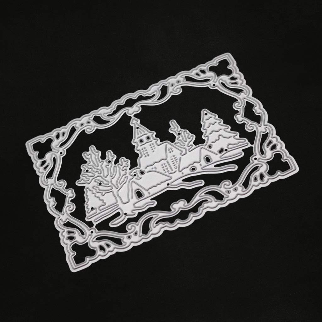 Gulang-keng Stanzschablonen f/ür Weihnachten Album Scrapbooking Basteln Dekoration Schablone Karten Papier Pr/ägung Metall Winter Stempel