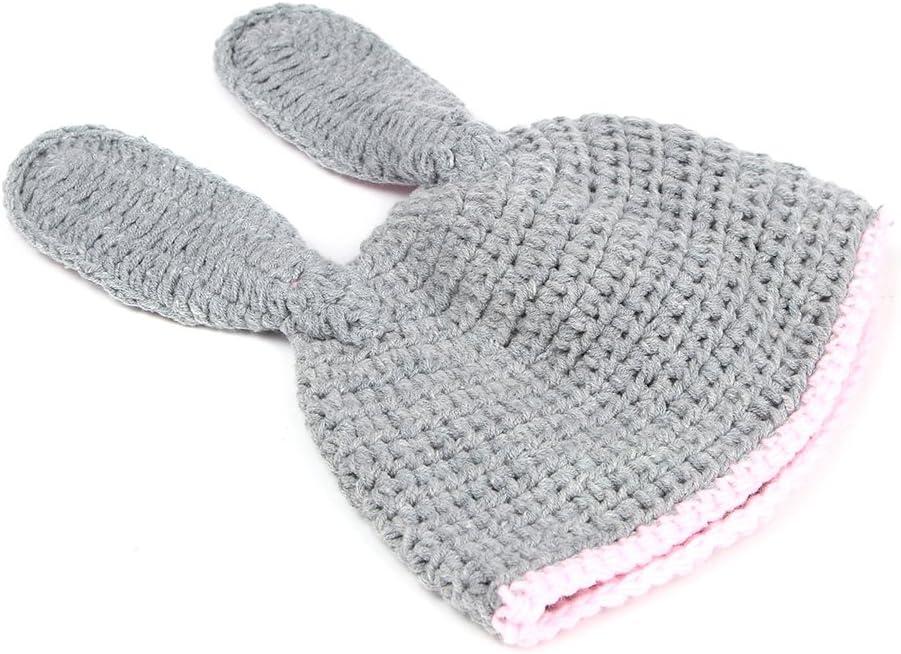 Haptian Puntelli di Fotografia dellAbito allUncinetto Neonato del Cappello della Ragazza del Costume del Coniglio del Bambino