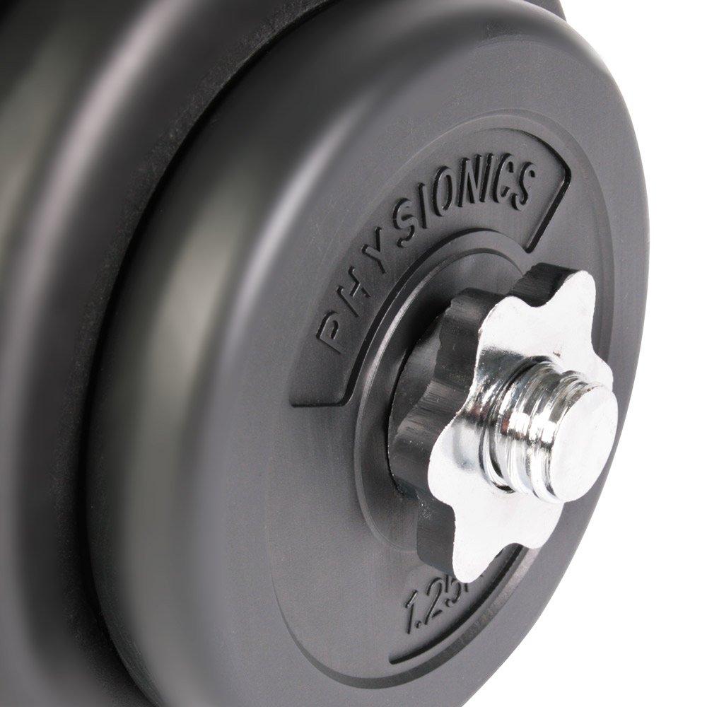 Juego de Mancuerna de Fitness y Pesas 20 kg Pesas Musculación Discos y Barra: Amazon.es: Deportes y aire libre