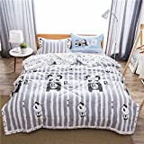 Uther Twin Summer Quilt , Thin Comforter for Summer or Spring , Cotton Bed Summer Air Conditioning Quilt Comforter , Panda Pattern