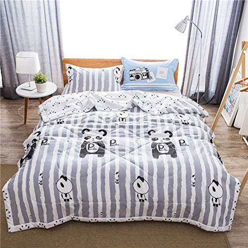 Uther Twin Summer Quilt , Thin Comforter for Summer or Spring , Cotton Bed Summer Air Conditioning Quilt Comforter , Panda Pattern by Uther